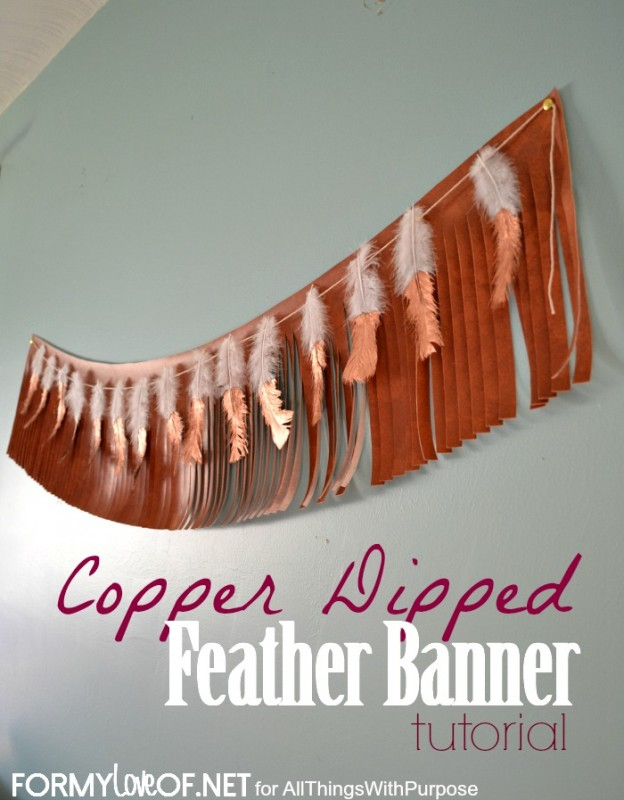 Copper Dipped Feather Banner tutorial contributor post
