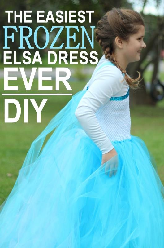 EASY FROZEN ELSA DRESS DIY