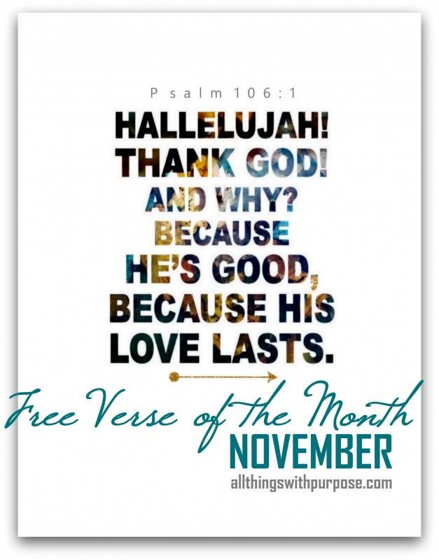 FREE PRINTABLE PSALM 106.1