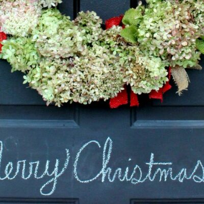 HYDRANGEA CHRISTMAS WREATH