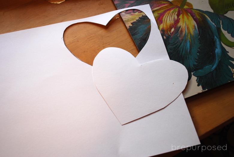 DIY Gold Leaf Heart