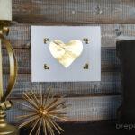 DIY Gold Leaf Heart (Contributor Post)