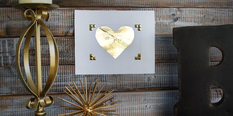 DIY Gold Leaf Heart (Contributor Post)