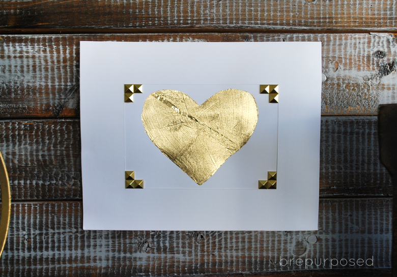 DIY Gold Leaf Heart