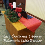 Easy Christmas & Winter Reversible Table Runner (Contributor Post)