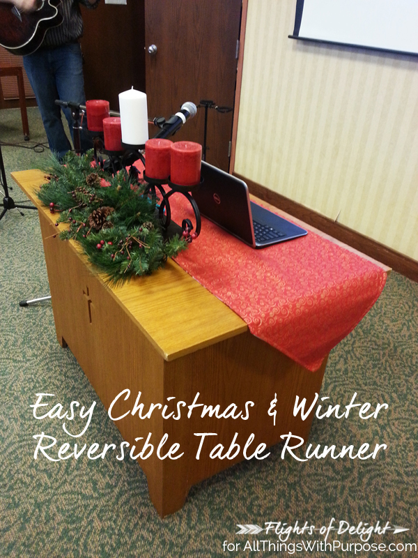 Easy Christmas & Winter Reversible Table Runner