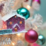 pink and teal glitter house