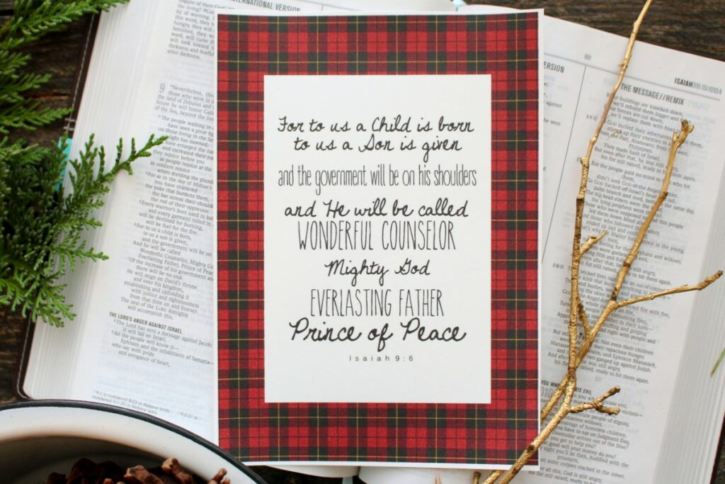 Verse of the Month: December (Isaiah 9:6)