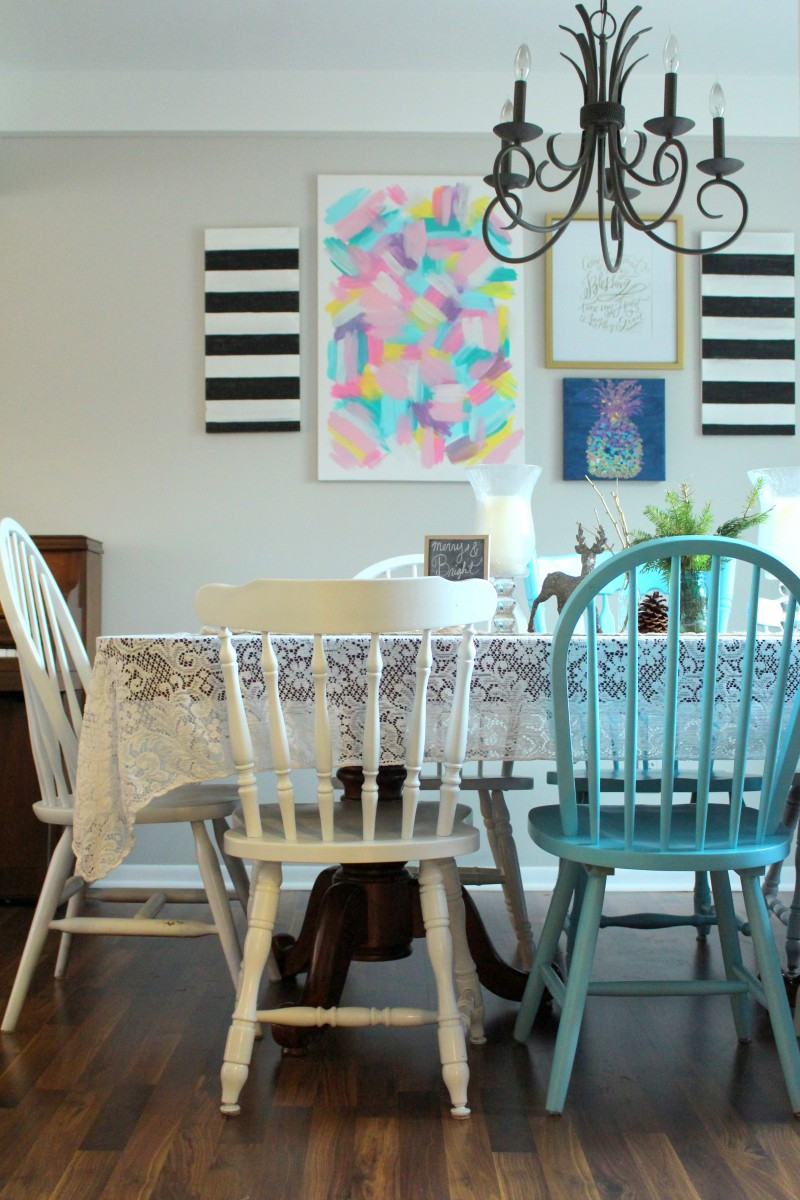 white dinning room chairs