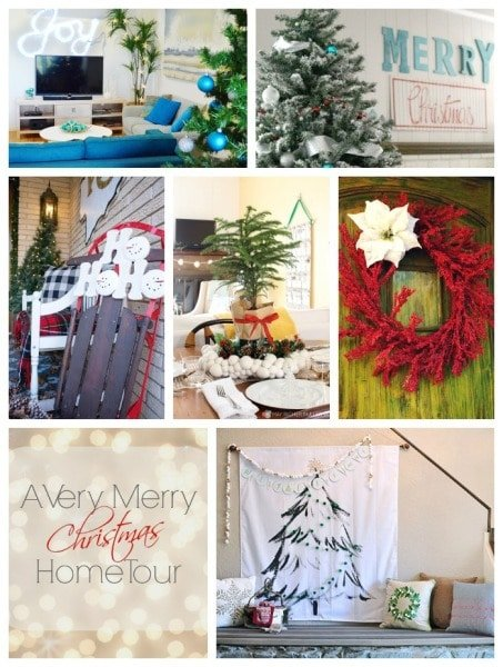 Monday Christmas Home Tour Collage