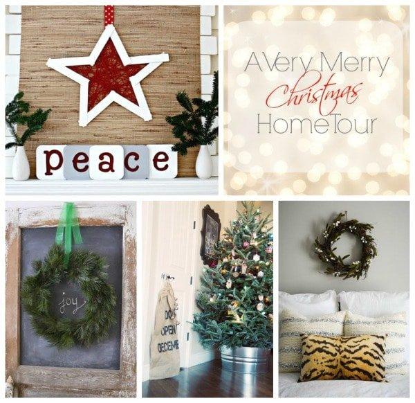 Thursday Christmas home tour collage