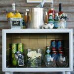 Gold Tiled Bar Cart (Contributor Post)