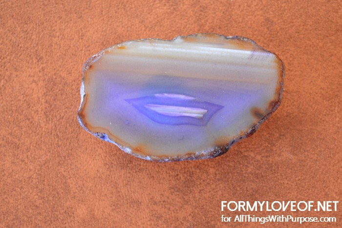 purple agate slice knob