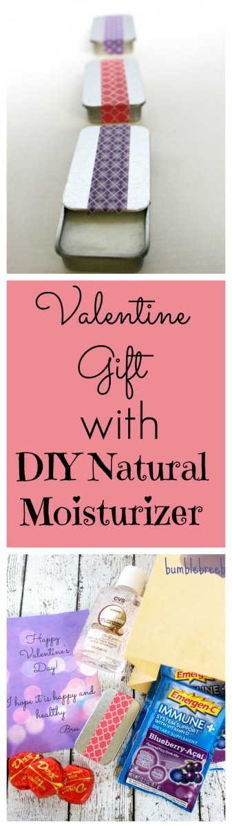 Valentine Gift with DIY Natural Moisturizer