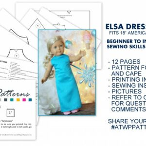 "18"" Doll Dress Pattern (Digital Download) All Things with Purpose Sarah Lemp"