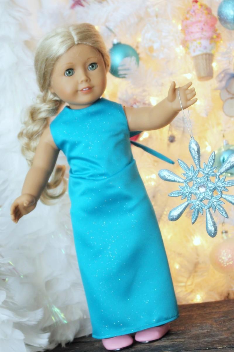 Elsa Dress Pattern for American Girl 18″ Dolls