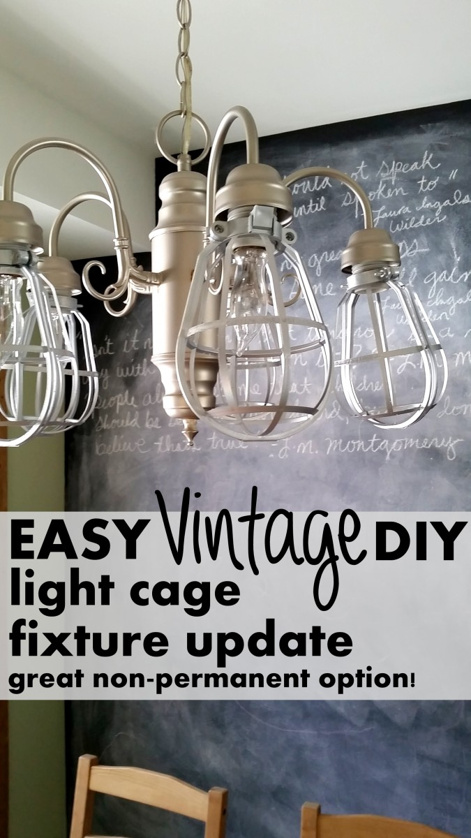 easy vintage update for a light fixture