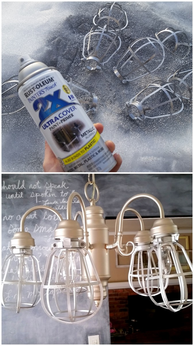 Diy Vintage Light Cages For A Fixture