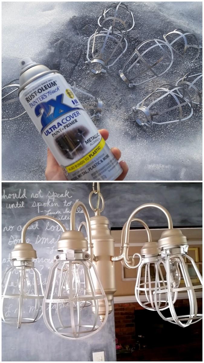 diy vintage light cages for a light fixture