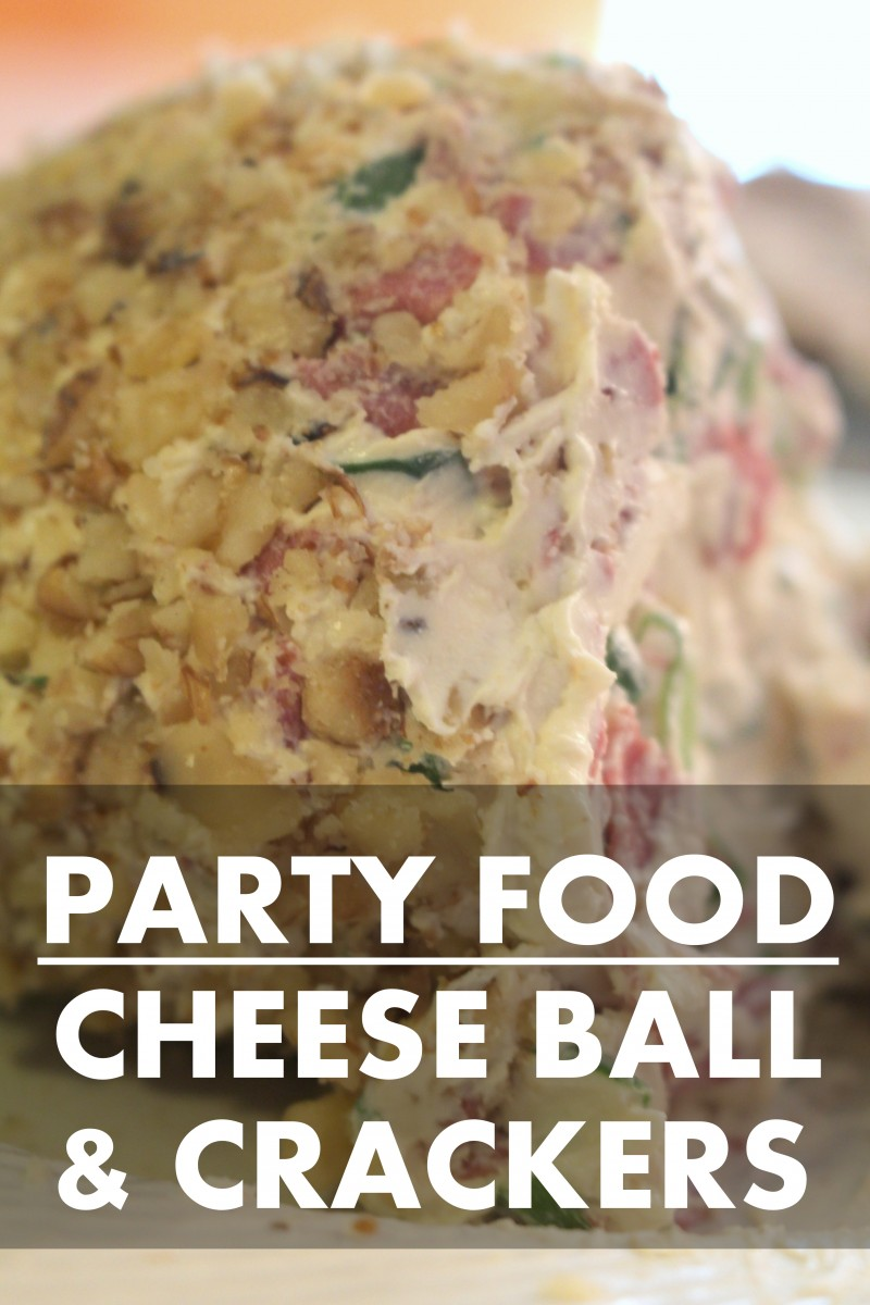 Cheese Ball and Crackers Recipe 3