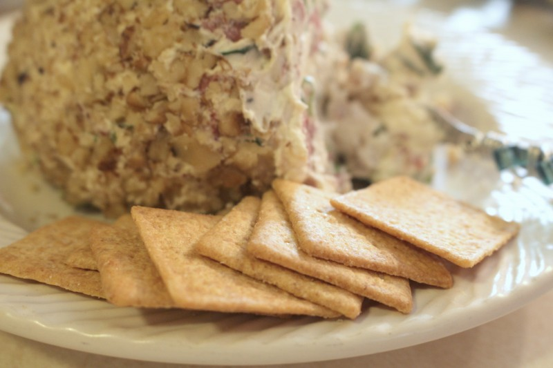 cheeseball and crackers recipe
