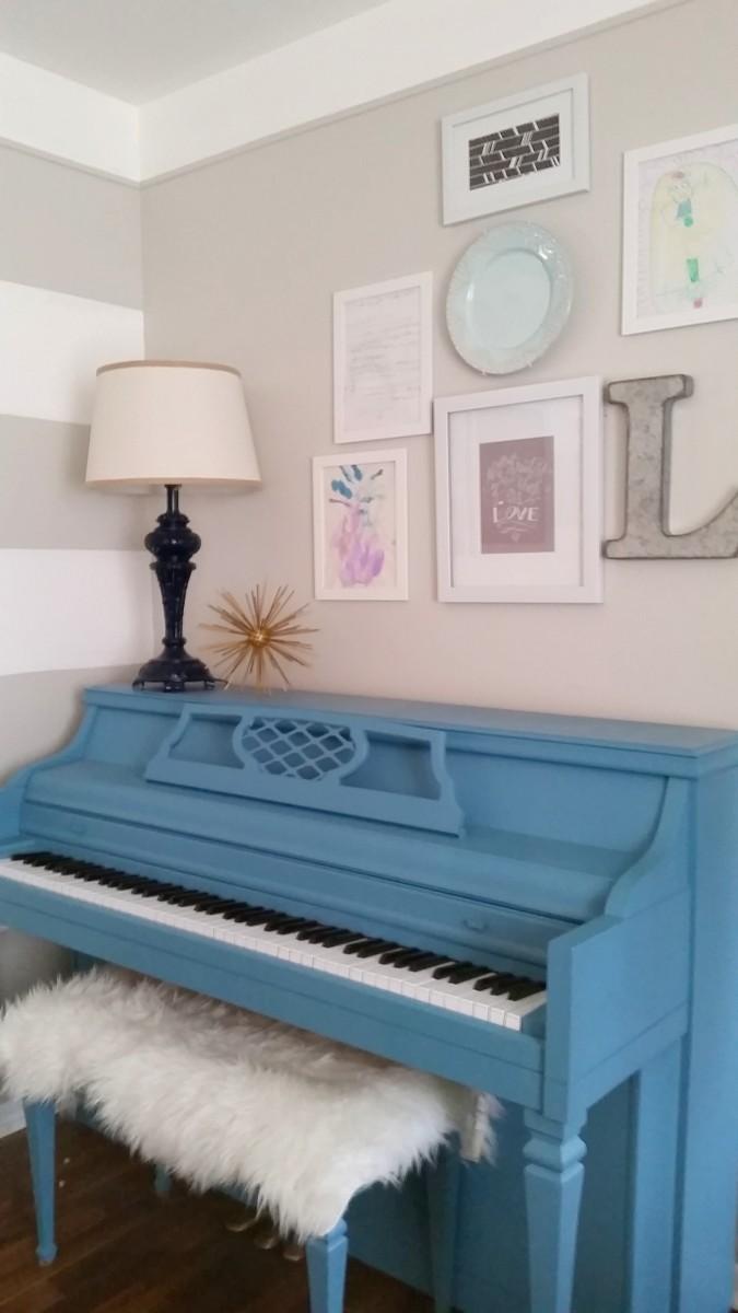diy painted piano