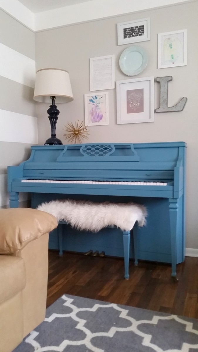 painted piano with diy chalk paint