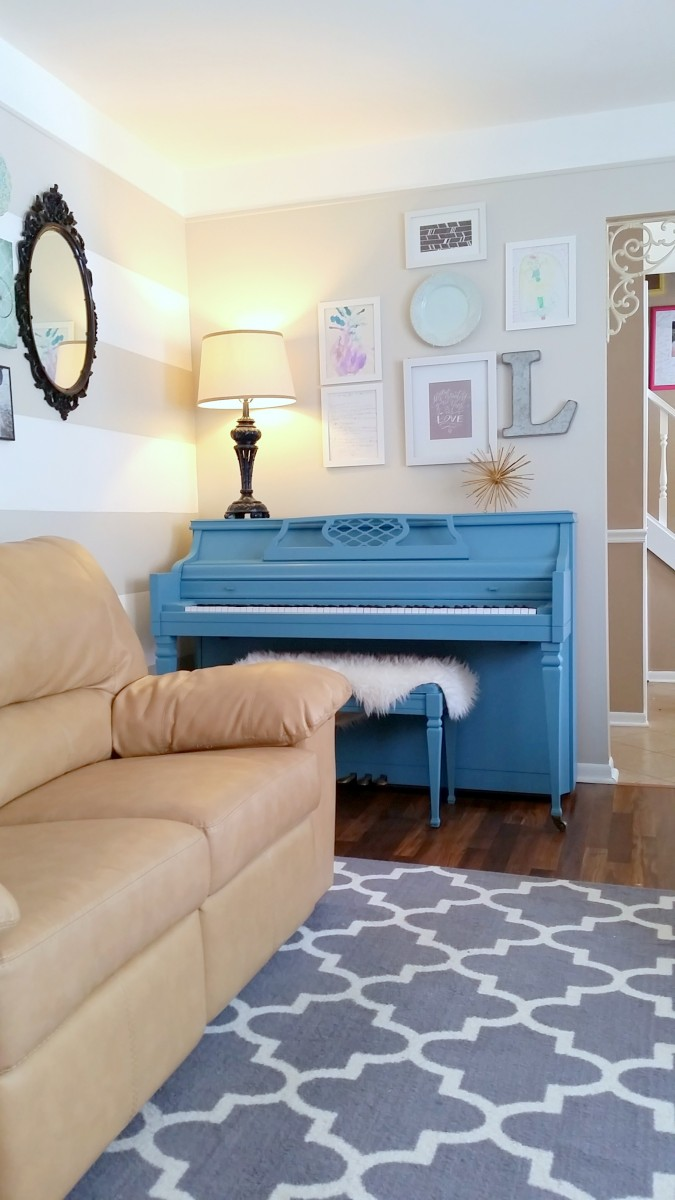 painted piano - diy chalk paint recipe