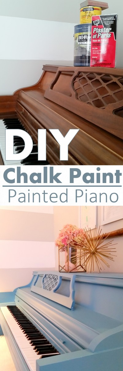 how to paint a piano using homemade chalk paint
