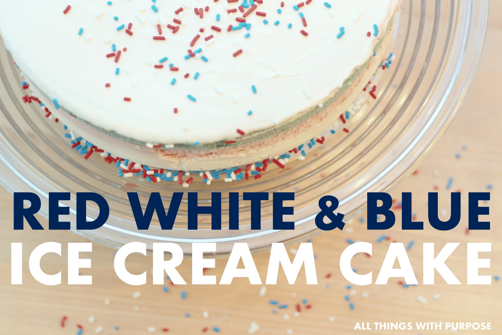DQ Red White and Blue Ice Cream Cake