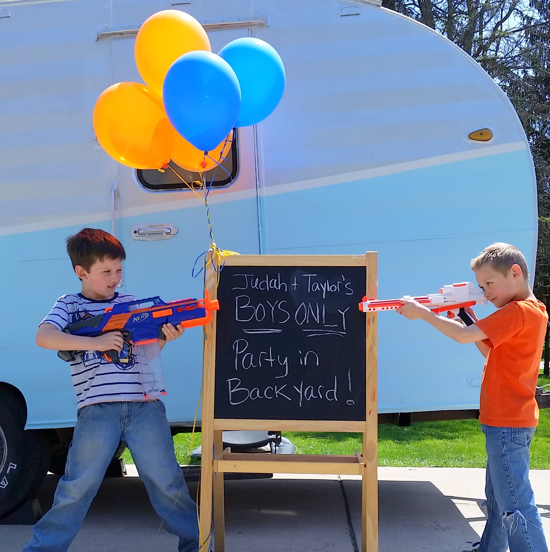 Boys Only Birthday Party Theme