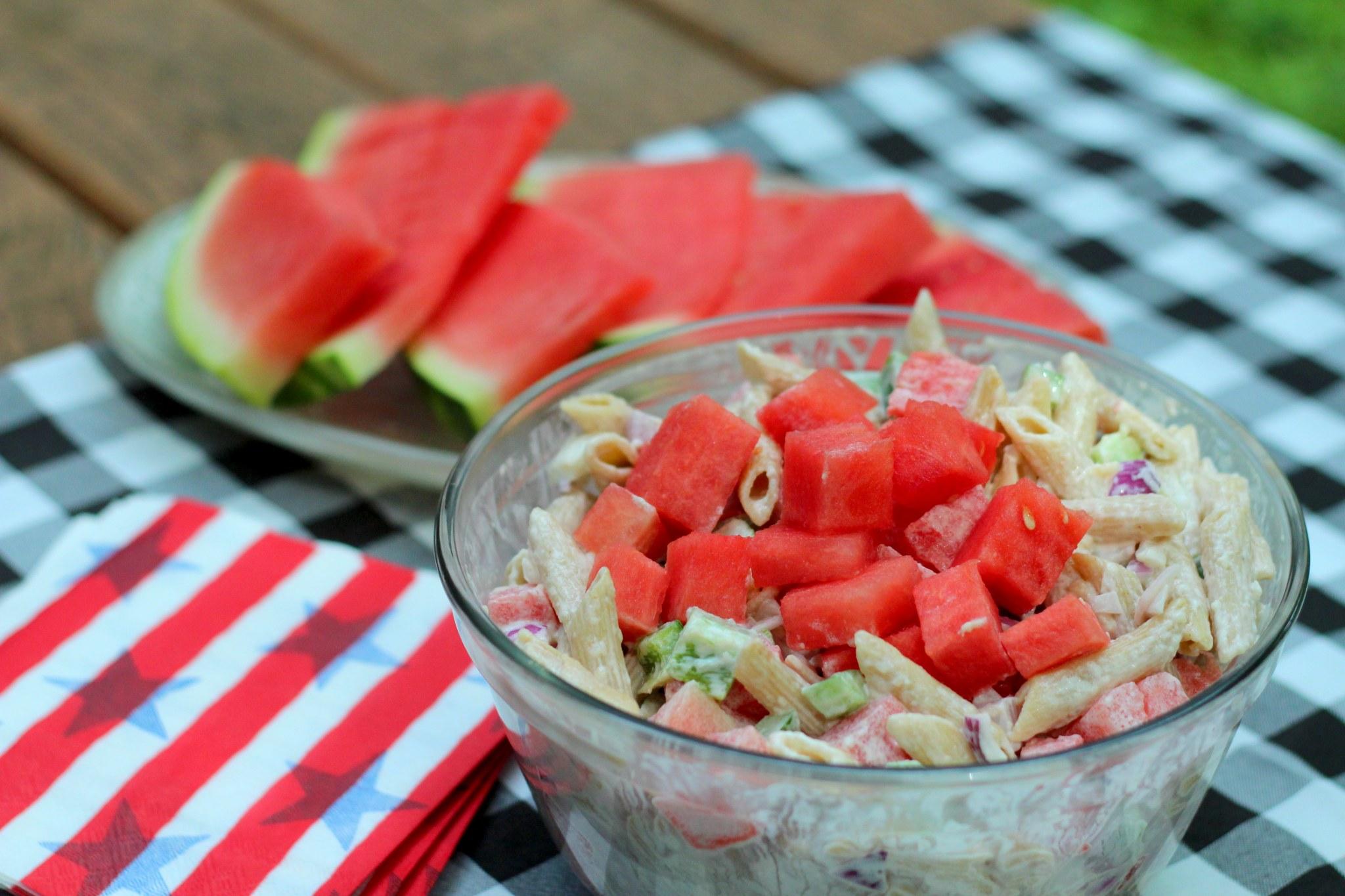 watermelon picnic salad