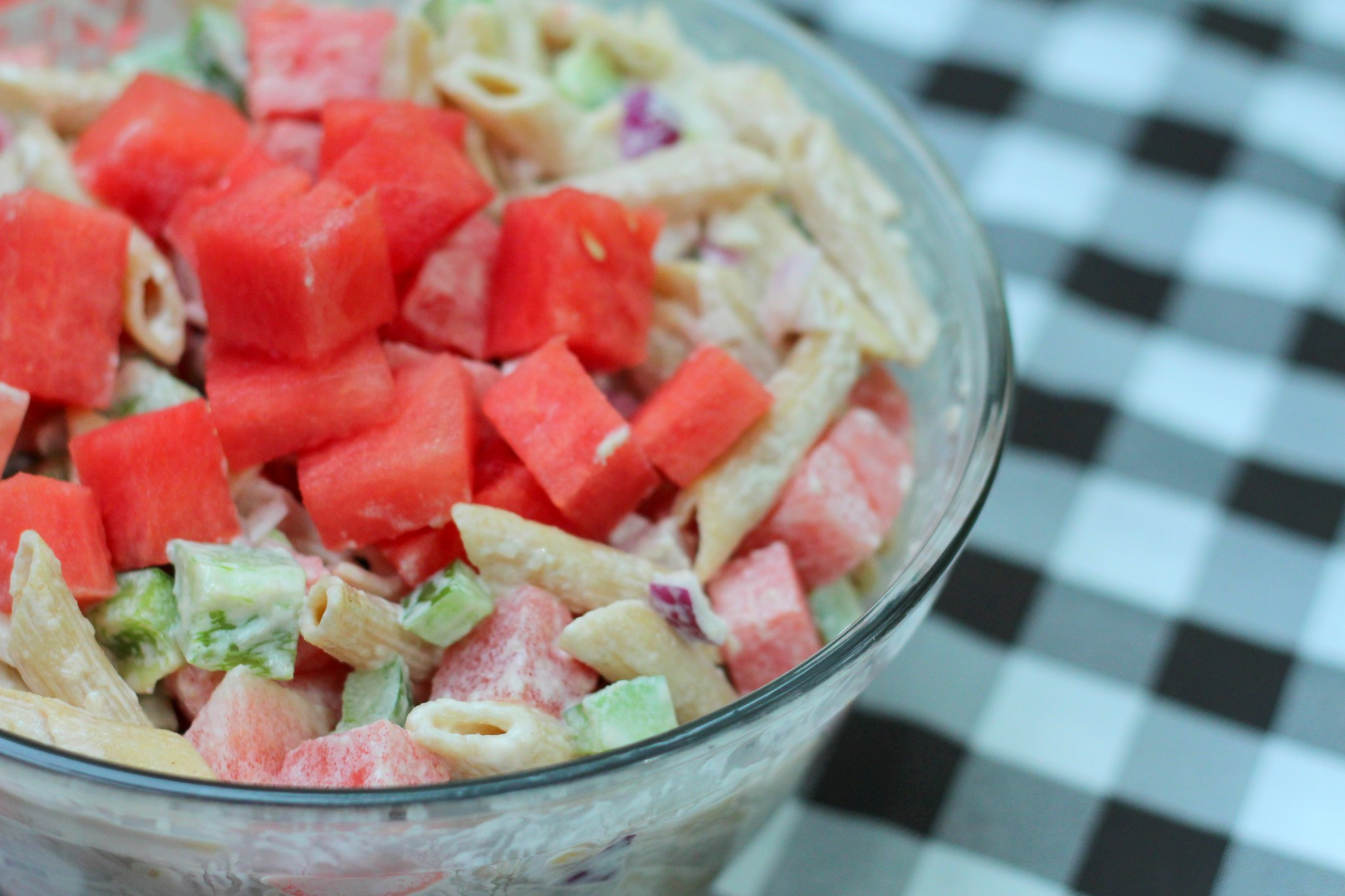 Watermelon Pasta Salad