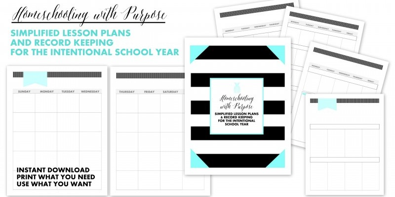 HOMESCHOOL LESSON PLANNER