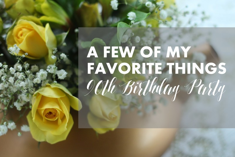 "Oma's ""Favorite Things"" 90th Birthday Party 2"