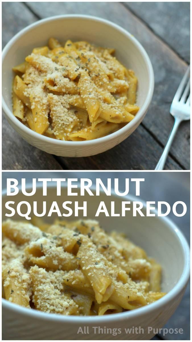Butternut Squash Alfredo Recipe - Yum!