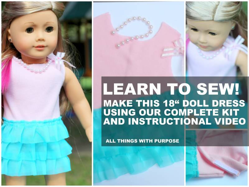 Simple Dress Kit FOR 18 INCH DOLLS