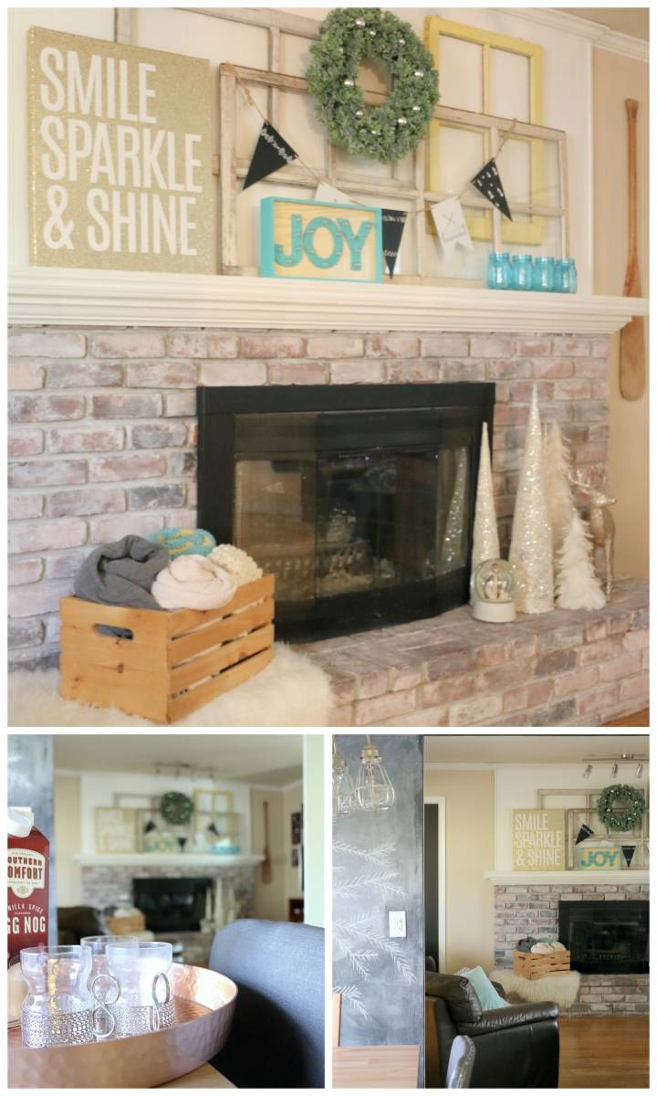Christmas mantel - fireplace decorating ideas