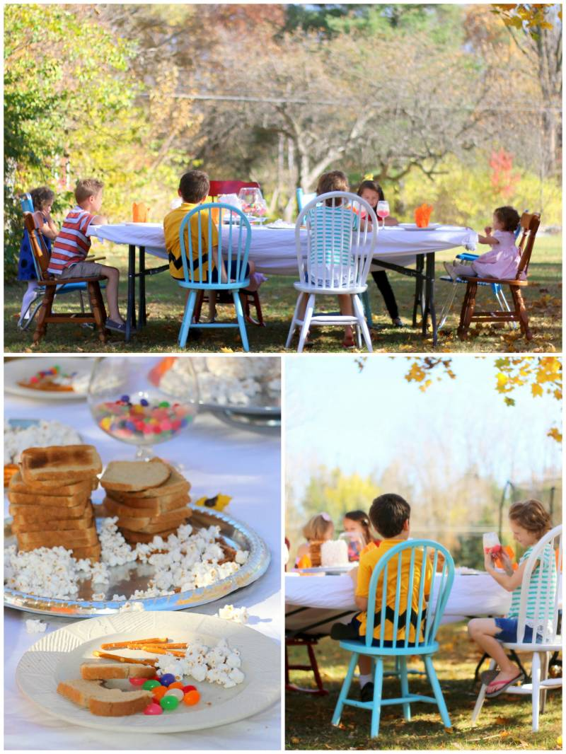 a charlie brown thanksgiving photo shoot