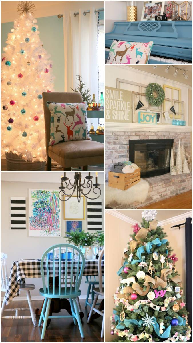 christmas home tour - white tree and pastel decorations