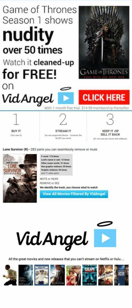 VidAngel Movie Streaming and Customizable Filtering