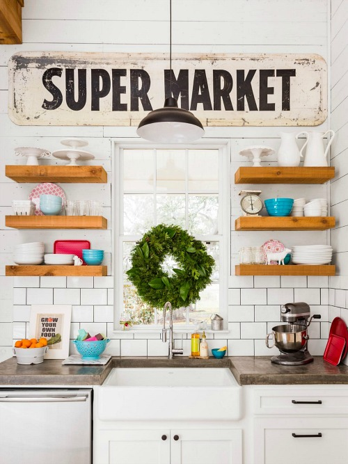 fixer upper joanna gaines farmhouse kitchen