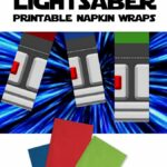 DIY Light Saber Napkins