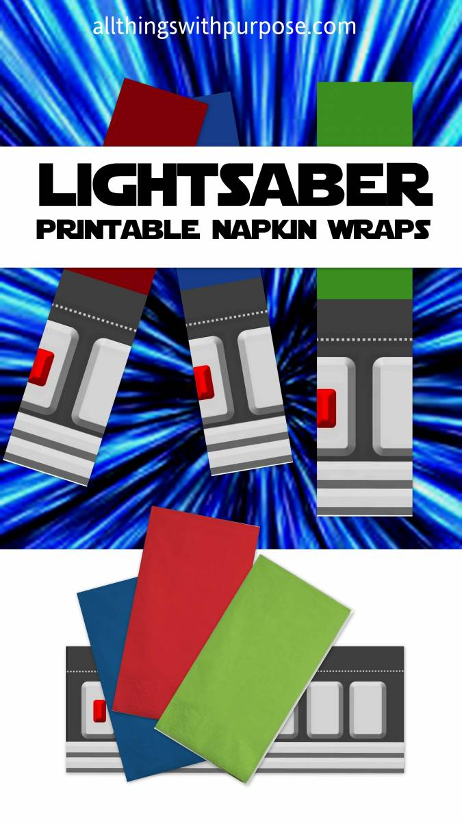 light saber napkins