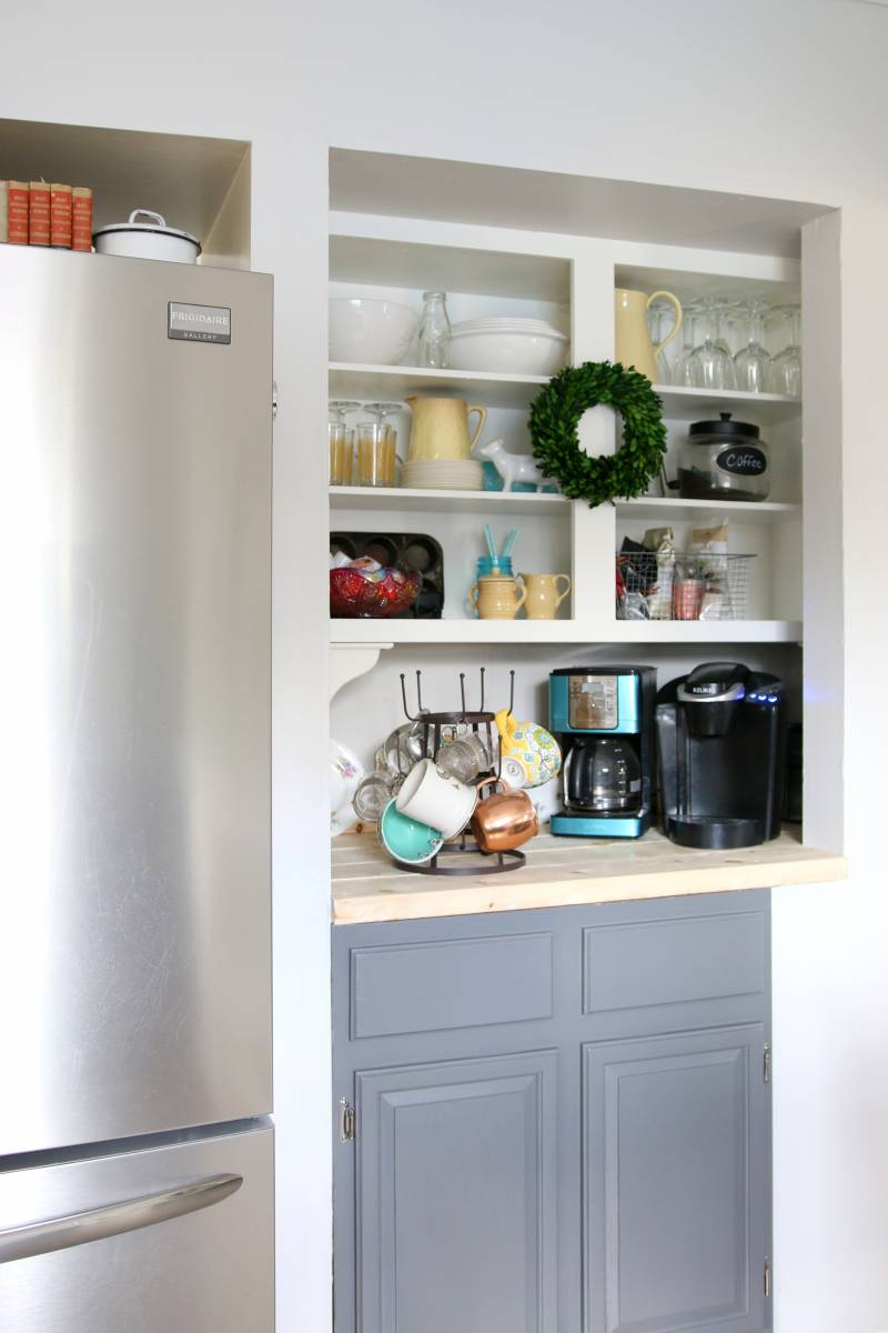 Pantry Converted To A Coffee Bar