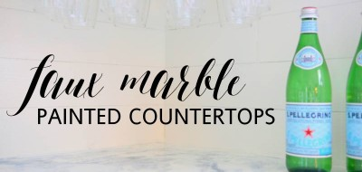 FAUX MARBLE COUNTERTOPS DIY