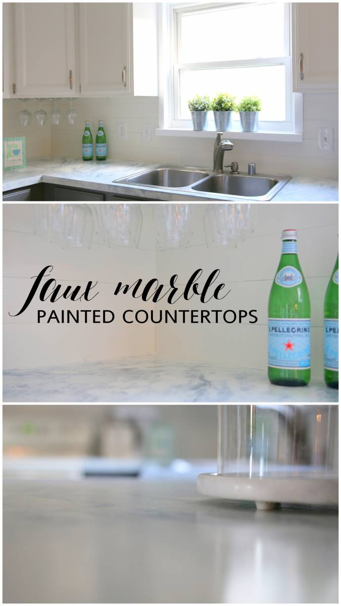 How To Paint Faux Marble Countertops
