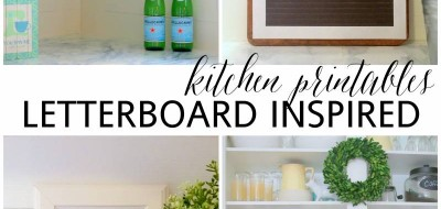 letterboard inspired kitchen printables