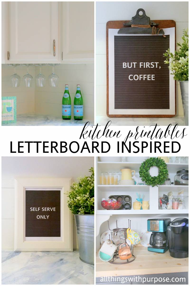 printable letterboard inspired kitchen signs #letterfolk
