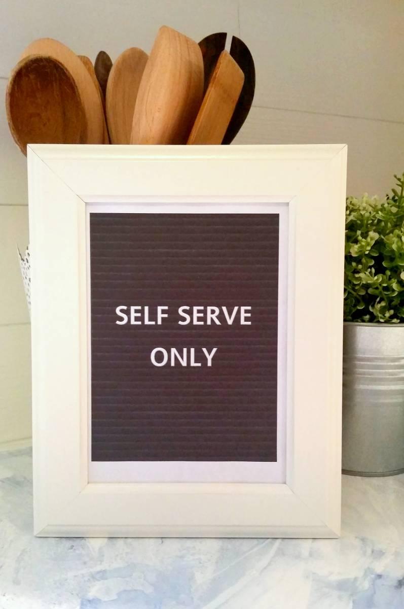 printable letterboard inspired kitchen signs #letterfolk